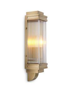 Bassett Antique Brass Wall Lamp