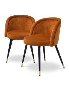 Chloe Savona Orange Dining Chair -  Set of 2