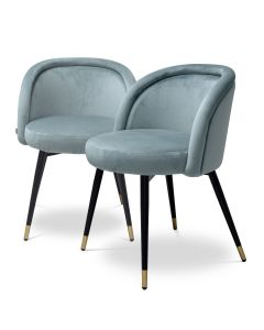 Chloe Savona Blue Set of 2 Dining Chairs