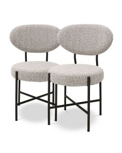 Vicq Boucle Grey Dining Chair - Set of 2