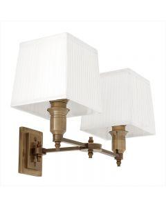 EICHHOLTZ LEXINGTON WALL LAMP DBL/WHITE