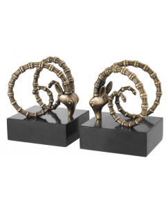 Ibex Brass Bookend - Set of 2