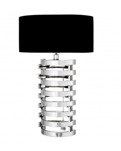 EICHHOLTZ BOXTER TABLE LAMP LARGE NICKEL