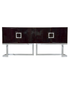 Worlds Away Braxton Rosewood and Stainless Steel Console