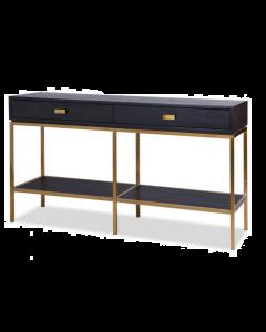 Levi Black Ash & Brass Console Table