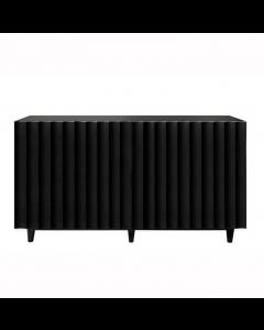 Odette Black Lacquer Scalloped Cabinet