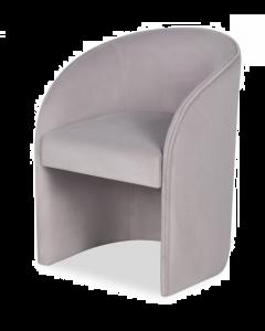 Capri Kaster Light Grey Velvet Armchair