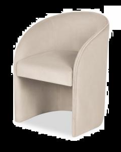 Capri Kaster Pebble Velvet Dining Chair