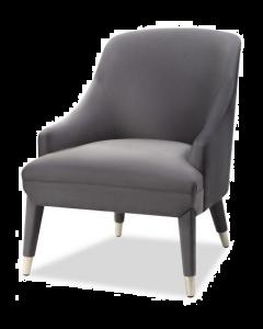 Sylvia Night Grey Velvet Armchair