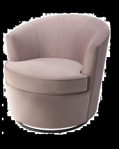 Kiss Lilac Velvet Armchair