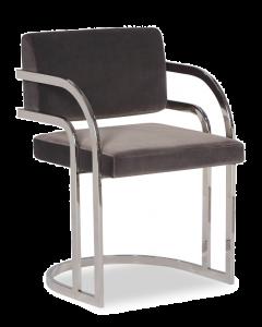 Dylan Nickel Grey Velvet Dining Chair