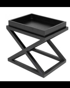 MCARTHUR BLACK SIDE TABLE