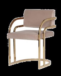 Dylan Mink Velvet & Brass Dining Chair