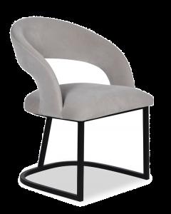 Alfie Dorian Grey Velvet Dining Chair
