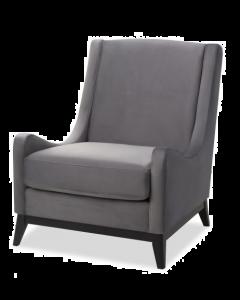 Lima Night Grey Velvet Armchair