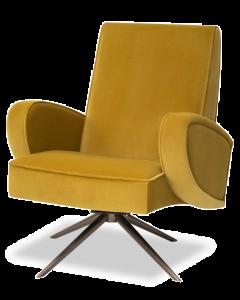 Strata Kaster Mustard Velvet Armchair