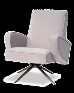 Strata Kaster Light Grey Velvet Armchair