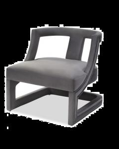Jim Night Grey Velvet Armchair