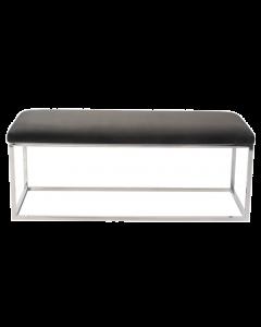 Loft Kaster Slate Grey Velvet Bench