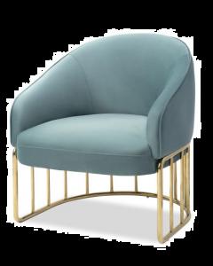 Boston Deep Turquoise Velvet Armchair