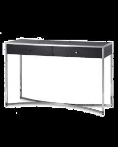 Rivoli Black Ash & Stainless Steel Console Table