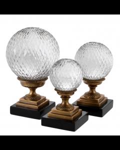 Divani Antique Brass Object - Set of 3
