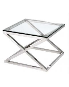 Criss Cross Square Side Table