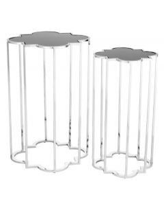 Concentric Stainless Steel Side Table Set of 2