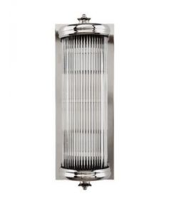 Glorious Small Nickel Wall Lamp