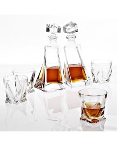 Sapphire Crystal Decanter - Set of 5