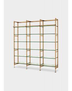 Delano Brushed Brass Cabinet