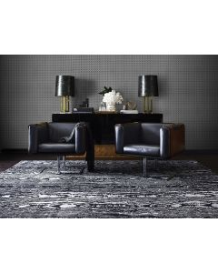New Composites Moire Hand Knotted Rug