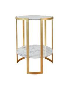 Edgar Gold Leaf Side Table