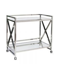 Worlds Away Gerard S/Steel Bar Cart