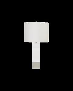 Worlds Away Harper White Nickel Lamp