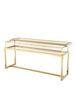 HARVEY CONSOLE TABLE BRASS