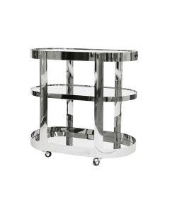 Hugh Nickel Bar Cart