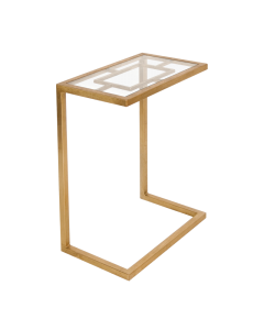 Worlds Away James Gold Side Table