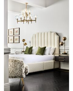 Rogue King Boucle Bed - Customise