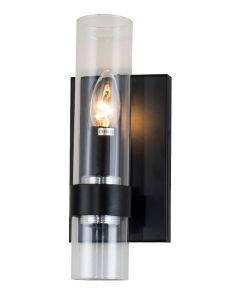 Calder Matt Black Wall Lamp