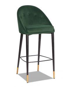 Arden Emerald Green Velvet Bar Stool