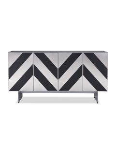 Unma Black Ash & Stainless Steel Buffet