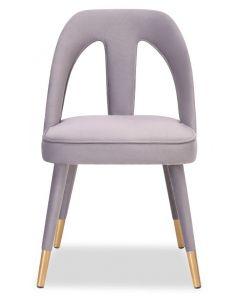 Pigalle Light Grey Velvet Dining Chair