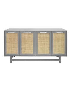 Macon Grey Lacquer & Nickel Cabinet