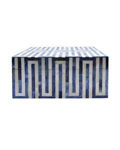 Mellie Small Blue & White Resin Box