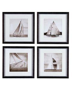 Michael Kahn Boat Prints - Set of 4