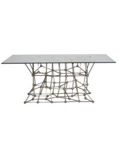 Worlds Away Silver Molecule Dining Table