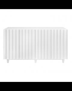 Odette White Lacquer Scalloped Cabinet