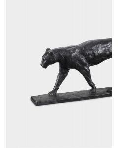 Patina Bronza Panther on Marble Base