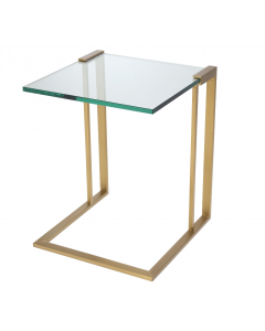 Perry Brushed Brass Side Table